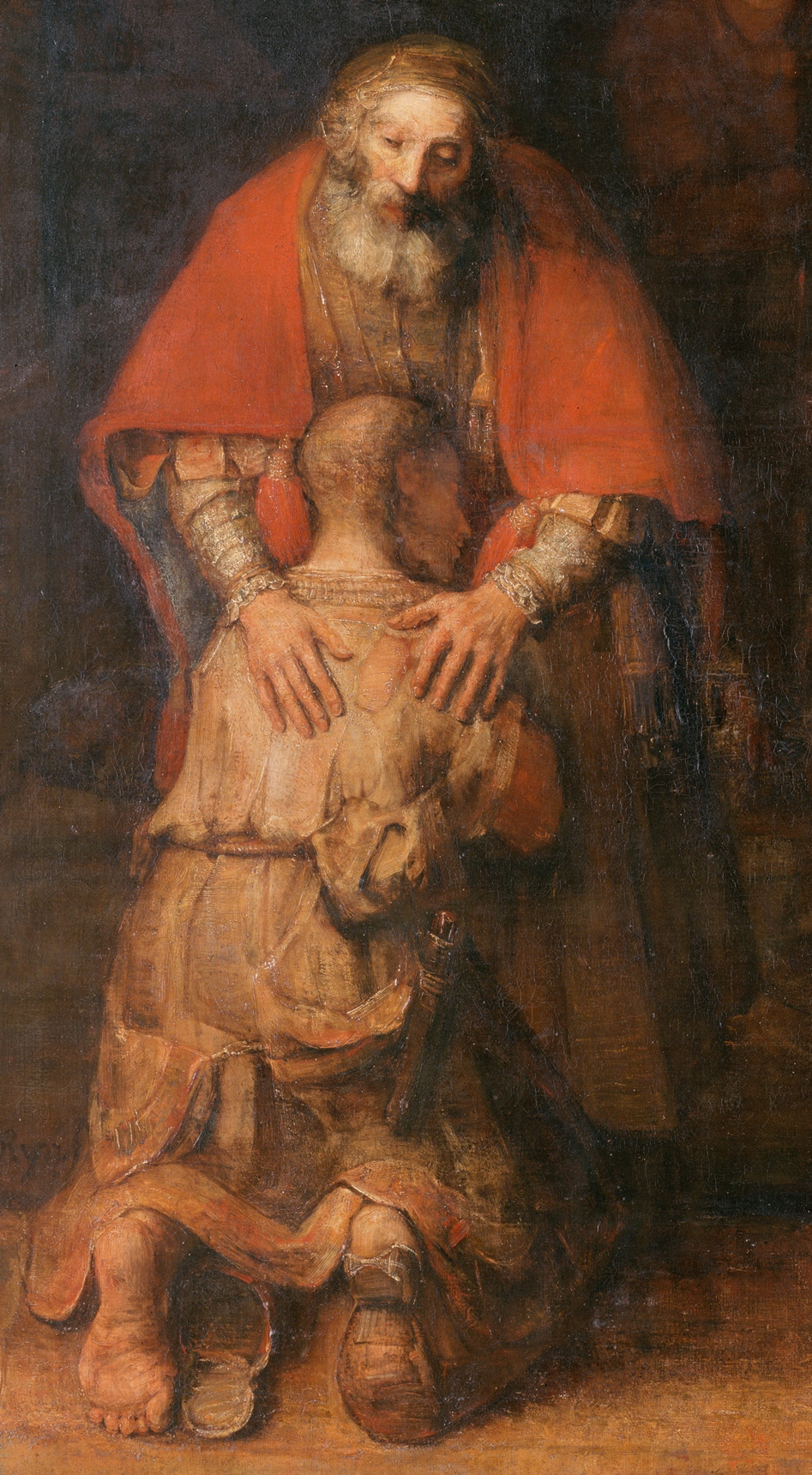 Rembrandt-The Return of the Prodigal Son, detail