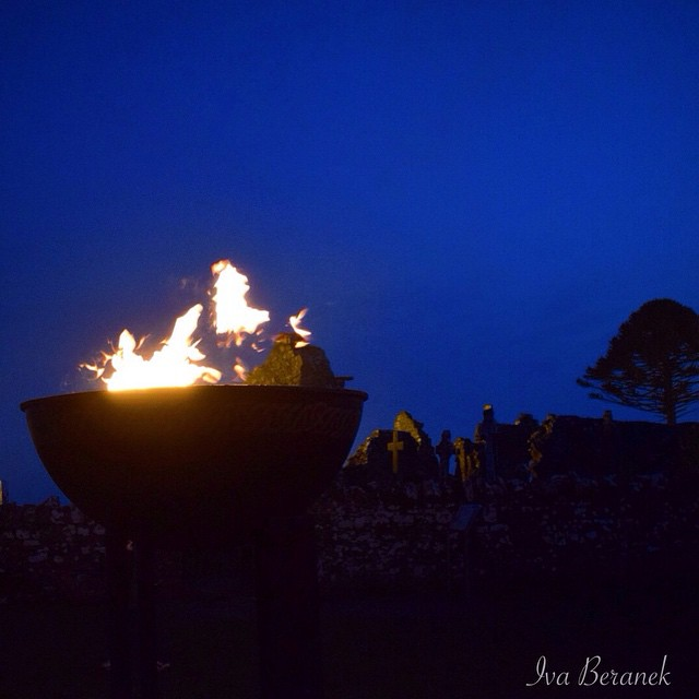Fire on the hill of Slane